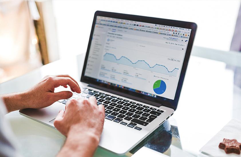 Image of Man Working on Analytics